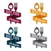 Food and drink vintage banner set — Stock Vector