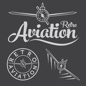 Retro aviation label — Stock Vector