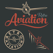 Retro aviation label — Stock Vector