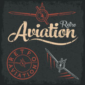 Retro grunge aviation label — Stock Vector