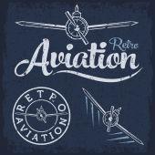 Retro grunge aviation label — Stock Vector