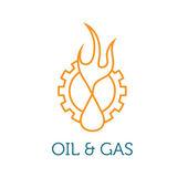 нефтяной и газовой промышленности iluustration — Cтоковый вектор