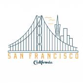 Skyline of San Francisco vector design template — Stock Vector