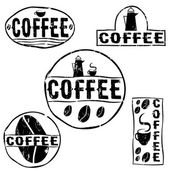 Set of vintage retro coffee labels — Stock Vector
