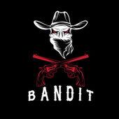 Bandit Skull With Revolvers — Stock Vector