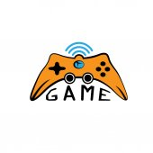 Illustration of Game pad Icon Vector Symbol — Vector de stock