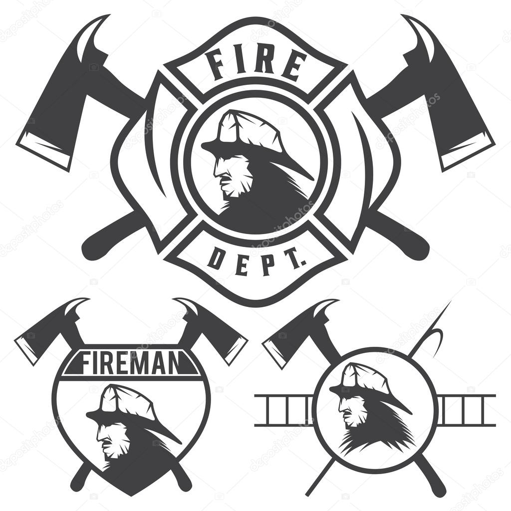 fire dept badges coloring printables coloring pages