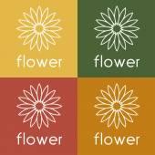 Sunflower vector design template — Vetor de Stock