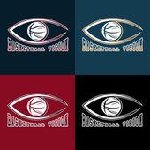 Basketball vision vector design template — Stock Vector