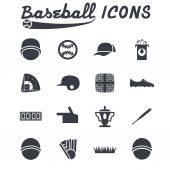 Flat design icons of baseball — Stock Vector
