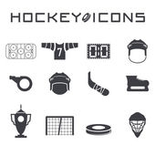 Flat design icons of hockey — Stock Vector