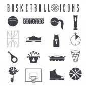 Flat design icons of basketball — Stock Vector