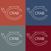 Crab monogram — Stock Vector