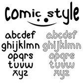 Lowercase comic style alphabet — Stock Vector