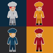 Flat sticker of chef — Stock Vector