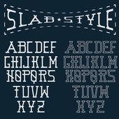 Slab style alphabet — Stock Vector