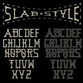 Grunge slab style alphabet — Stock Vector