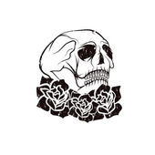 Day of The Dead Skull with flowers , dia de los muertos — Stock Vector