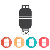 Liquid Propane Gas Vector Illustration abd web icons — Vector de stock