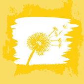 Watercolor graphic dandelion. Vector — Stock Vector