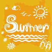 Kreative Grafik für den Sommer. Aquarell. Vektor — Stockvektor