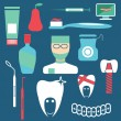 Flat design collection of dentistry theme — Stock Vector #74017289