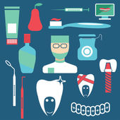 Flat design collection of dentistry theme — Vector de stock