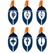 Spartan warrior helmets as emblem of sports teams — Stock Vector