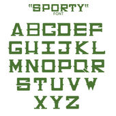 Font of sports theme. Vector — Stock Vector