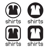Icons of shirts — Stock Vector
