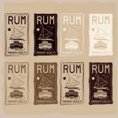 Rum vintage labels set — Stock Vector
