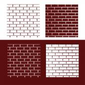 Brick wall vector background — Stock Vector
