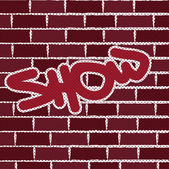 Graffiti on brick wall vector background — Stock Vector