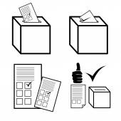 Politics, Voting and elections icons — Stock Vector
