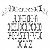 Grunge Swirly Alphabet — Stock Vector