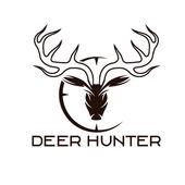 Deer hunter vector design template — Stock Vector