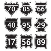Road signs set — Stock Vector