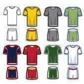 Set of soccer uniform — Stock Vector
