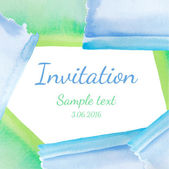 Invitation with watercolor background. Vector — Stock Vector