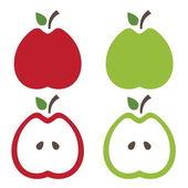 Illustration of apples .Vector — Stock Vector