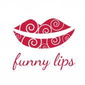 Funny lips symbols. Vector — Stock Vector