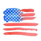 Watercolor american flag. Vector — Stock Vector