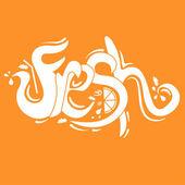 Illustration lettering Fresh.Vector — Stock Vector