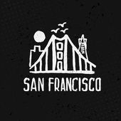 Skyline of San Francisco in watercolor. Vector — Stock Vector