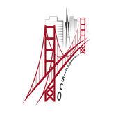 Skyline of San Francisco vector design template — Stock Vector