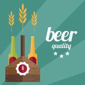 Illustration vectorielle design plat du thème de la bière — Vecteur