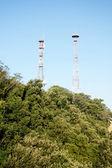 Telecommunications, antennas, technology, humans technology — Stock Photo