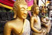 Buddhism Statues in Laos public temple — Zdjęcie stockowe