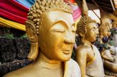 Buddism Statues in Laos public temple — Stock Photo