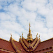 Gable apex on the roof of Public Laos Temple — Stock Photo #57850025